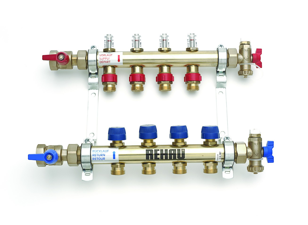Rehau Brass Flow Meter Manifold Allbrite All