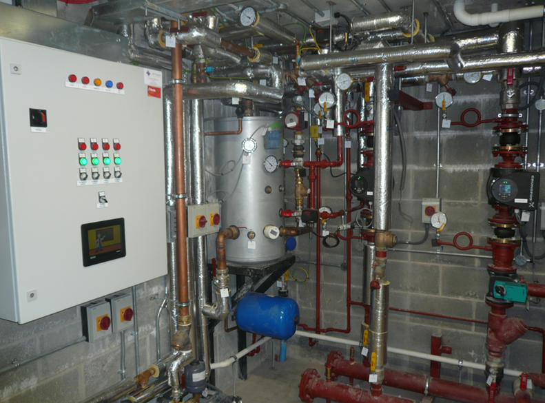 Carrigabruise National School plantroom mechanical installation