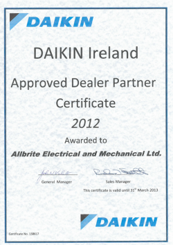 Daikin Ireland approved dealer