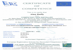 INAB certificate of competence
