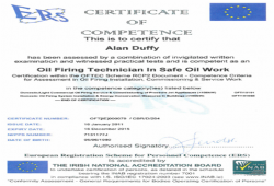 INAB certificate of competence gas installer 3