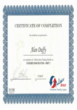 Pulsar certificate of completion