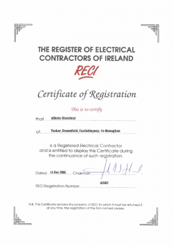 RECI registred