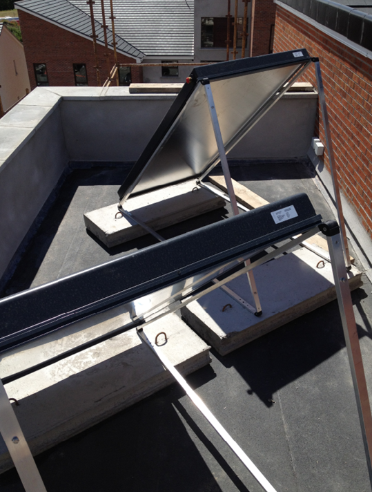 Mell housing estate roof top solar panel installation by allbrite